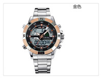 acrylic auto sales - Hot Sale Original WEIDE Men Sports Watch Meters Waterproof Silicone Strap Analog Digital Men Quartz Military Watches Relogio