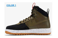 Wholesale Real leather Lunar air Duckboot Men Sneaker High cut Skateboard shoes Walking Outdoor Sports Shoes Jogging Shoes basketball shoes size us