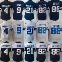 Wholesale Women s Stitched Football Dak Prescott Tony Romo Ezekiel Elliott Jason Witten Dez Bryant Jerseys Drop Shipping Mix Order