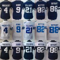 Wholesale Women s Stitched Football Dak Prescott Tony Romo Ezekiel Elliott Jason Witten Dez Bryant Jerseys Drop Shipping Mix Order