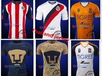 american rugby league - UNAM men s short sleeve shirts adult Tigers Chivas shirt Maillot American League UANL Guadalajara Mx