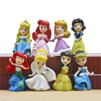 Wholesale 8pcs Fairy Tale Princess Mini Garden Miniatures Terrarium Figurines Bonsai Tools Crafts Moss Gnomes Jardin Dollhouse Zakka Home Accessories