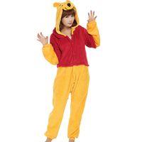 bear sleepwear - Weini Bear Unisex Adults Casual Flannel Hooded Pajamas Cosplay Cartoon Cute Animal Onesies Sleepwear For Women Men