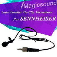 Wholesale Lapel Lavalier Tie Clip Microphone for Sennheiser Wireless Body Pack Transmitter with mm Screw Lock Connector