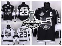 angeles c - Men s stanley cup champions Los Angeles Kings Dustin Brown LA Kings Jersey Home Black Road White Stitched Jerseys C Patch