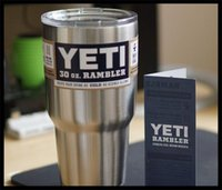 Wholesale Yeti oz Cups Cooler Stainless Steel YETI Rambler Tumbler Cup Car Vehicle Beer Mugs Double Wall Bilayer Vacuum Insulated