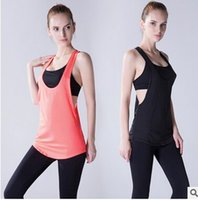 Cheap 8 Colors Summer Sexy Women Tank Tops Quick Dry Loose Gym Fitness Sport Sleeveless Vest Singlet for Running Training T-shirt 1033