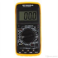 Wholesale DT9205A Amp Meter Tester Handheld Digital Multimeter DMM w Capacitance hFE Test Multimetro Ammeter Multitester Megohmmeter