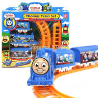 Wholesale J G Chen Thomas Train Track Tomas Electric Train Set Baby Educational Toys Splicing Rail Train Gift Kids Boy Toys Scale Models