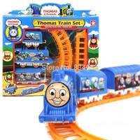 baby train sets - J G Chen Thomas Train Track Tomas Electric Train Set Baby Educational Toys Splicing Rail Train Gift Kids Boy Toys Scale Models