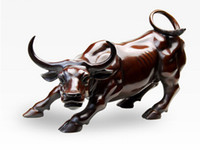 Wholesale From salewig to world Wall Street Bronze Fierce Bull OX Statue CM Length Nice gift amulet