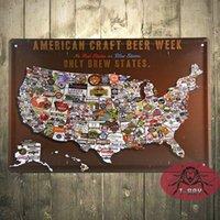 beer week - A American craft beer week metal poster Wall Design Stickers D