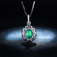 big green jewelry - 2016 new style White gold plated necklace Pendant Fashion for Women big Green AAA Zircon Wedding Emerald jewelry MSN006