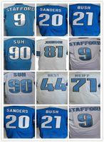 barry blend - Detroit Lions Matthew Stafford Barry Sanders Johnson Ezekiel Ansah Golden Tate III Ameer Abdullah elite jerseys