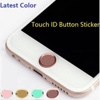 Wholesale 200pcs DHL Free Touch ID Metal Aluminum Home Button Sticker for iPhone s s plus plus s Finger Identification