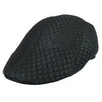 Wholesale New Design Mesh Newsboy Cap Mens Ivy Hat Golf Driving Summer Sun Flat Cabbie Visors