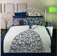 Cheap Wholesale-1 pcs bedspread queen butterfly cotton 1pcs king size comforter cover knitted