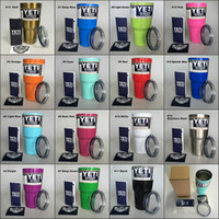 beer stainless steel - 20 Colors Yeti Tumbler Rambler Beer Cup oz oz Yeti Cups Stainless Steel Double Wall Vacuum Insulated Travel Mug with lid IN STOCK