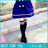 Wholesale New Hot Thigh High Sexy Cotton Socks Women s Striped Over Knee Girl Lady Sockings