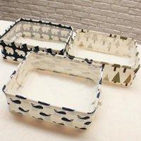 Wholesale Newest Cute Linen Desk Storage Box Holder Jewelry Cosmetic Stationery Organizer Case Jewelry Cosmetic Stationery Sundries Animal Home Decor