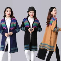 Wholesale Fashion ladies knitted sweater dames autumn winter pullover womens Long sleeve capes and ponchoes sweaters Vintage Jumpers
