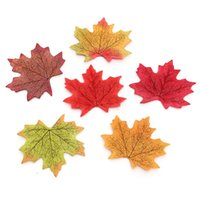 autumn leaves background - Cheapest set Artificial Autumn Fall Maples Leaves Garden universal Decor NEVER DAMAGE Wedding background Photographic prop