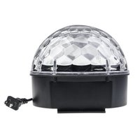 Wholesale US Plug Sound Active x3W LED RGB Crystal Magic Ball Colorful Light Stage Light Party Lamp Disco Rotating Light