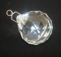 Wholesale 30pcs mm crystal glass faceted ball metal hook hanging prism ball suncatchers X mas faceted ball