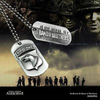 airborne wwii - 101st Airborne quot Band of Brothers quot Dog Tag Pendant necklace WWII US