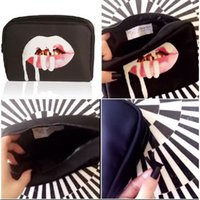 Wholesale STock hot sale Kylie Jenner Make Up Bag Birthday Collection Makeup Bag Kylie Lip Kit Bag High Quality