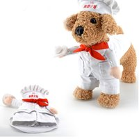 baker clothing - Dog Costume Novelty Funny Baker Party Pet Dog Clothes Cook Role Play Large Dog Clothing GP160327