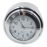 Carbon Fiber Vinyl Film aluminum clock dial - New quot quot Waterproof Aluminum Alloy Motorcycle Handlebar Chrome White Dial Clock For Yamaha Virago Road Star White Surface