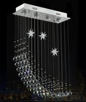 Wholesale Contemporary Crystal Ceiling Light Fixtures - Contemporary Modern Crystal Rain Drop Chandelier Lighting Flush Mount Led Ceiling Bathroom Fixtures Pendant Lamp for Living Dining 23.6 Inch