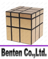 Wholesale 3x3x3 CY Gold Mirror Cube Magic Cube Black hot selling factory price DHL freeshipping high quality LLFA9068