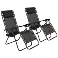 Wholesale Zero Gravity Chairs Case Of Black Lounge Patio Chairs Outdoor