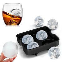 Wholesale Food Grade Cups Glass Shape Silicone Spherical Whiskey Round Ball Ice Cube Tray Maker Mold For Party Bar Kitchen Easy DIY At Home