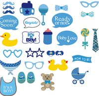 baby booth - Baby Shower Party Photo Booth Props Kits Set of It s A Boy Props Photo Baby Show Birthday Party KKA625