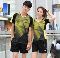 Wholesale New Victor badminton T Shirts clothes Polyester table tennis Jersey clothing Breathable absorption Quick drying Sport tennis wear shorts