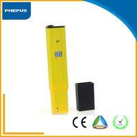 PHEPUS Модный корпус мини-стиль пера желтый цвет цифровой измеритель pH для плавания плохой воды для испытаний С 2 пакета калибровки Solution Mix