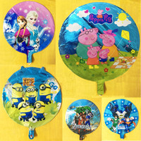 Wholesale 18 Inch Frozen Despicable Me toy Ballons Cartoon Helium Foil Balloons For Kids Birthday Wedding Party Decoration style