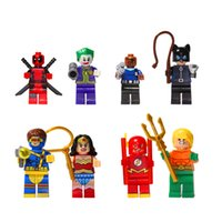 aquaman toy figure - SY178 Building Blocks Super Heroes MiniFigures Wonder Woman Nick Fury Joker Aquaman Cyclops Cat Woman Deadpool Bricks Figures