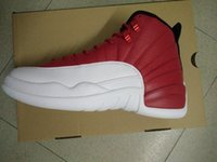 Wholesale basketball shoes retro shoes xii red and white men athletic shoes retail