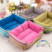 Wholesale CW001 Fashion stripe dog house luxury dog bed beds for small dogs puppy bed puppy bed