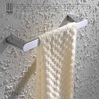 Wholesale Han Pai Brass Bathroom Accessories Towel Rack Holder Rings Chrome Finished Wall Mounted Bath Acessorios de banheiro HP7741