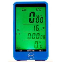 Wholesale Large screen Backlight Wireless Waterproof Cycling Bicycle Computer Odometer Bike Touch Speedometer Stopwatch Speed Measuring