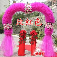Wholesale The new wedding silk flower door arches organza heart shaped opening props