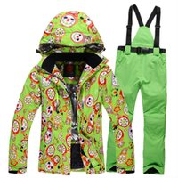 Wholesale High Quality New Winter Clothing Set Outerwear Winter Outdoor Ski Women s Suit Set Skiing Windproof Thermal Set