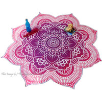 Wholesale Large Mandala Tapestry Indian Wall Hanging Beach Throw Towel Yoga Mat Polyester Designer Printed Shawl with Tassel cm By DHL BKT074