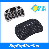 Wholesale Portable mini keyboard Rii Mini i8 Wireless Keyboard with Touchpad for PC Pad Google Andriod TV Box with retail package DHL