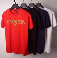 Wholesale Casual Cotton Balmain Men T Shirts Male Tops Tees Mens T Shirt Homme Paris Balmai Jeans Brand Designer Short Sleeve T Shirt Men s tshirts